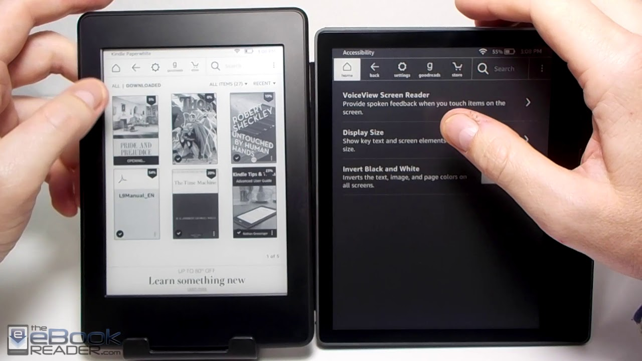 71f4de8825ff0f Kindle Oasis 2 vs Kindle Paperwhite Comparison Review - YouTube