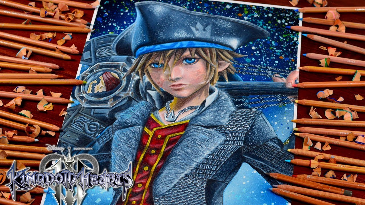 Drawing Kingdom Hearts 3 Sora Pirates Of The Caribbean