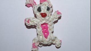 """Tuto loom **avec mise en scène** /Réaliser un lapin en élastiques de type """"rainbow loom"""""""
