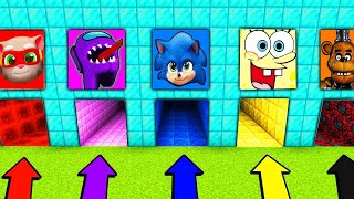 DO NOT CHOOSE THE WRONG DIAMOND HOLE PORTAL AMONG US SONIC SPONGEBOB FREDDY TALKING TOM MINECRAFT 2