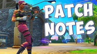 MATERIAL NERF - THE NEW COMPACT SMG & MORE (Fortnite Battle Royale Update Patch Notes)