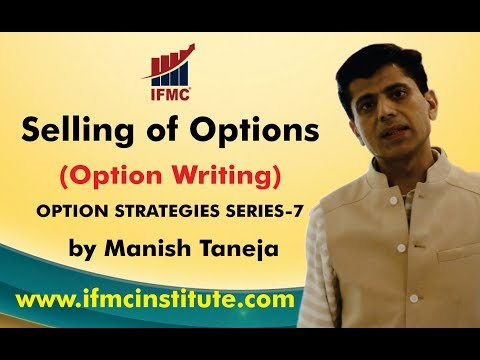 Selling of Options ll Option writing ll Option Strategies Manish taneja- Series 7 ll
