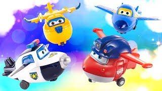 Мультики для детей: Супер крылья! Super Wings ТРАНСФОРМЕРЫ строители, спасатели и полицейские