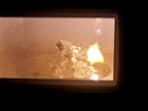Microwave Aluminum Foil Youtube