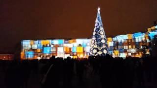 Санкт-Петербург. Дворцовая площадь.Новогоднее световое шоу.