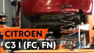 Kuinka vaihtaa takajousi CITROEN C3 1 (FC, FN) -merkkiseen autoon [AUTODOC -OHJEVIDEO]