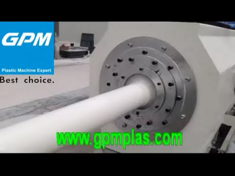 pvc pipe extrusion process(GPM Machine)