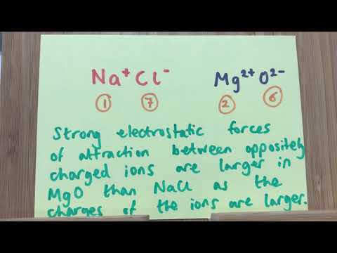 C2 Why Is The Melting Point Of MgO Higher Than NaCl