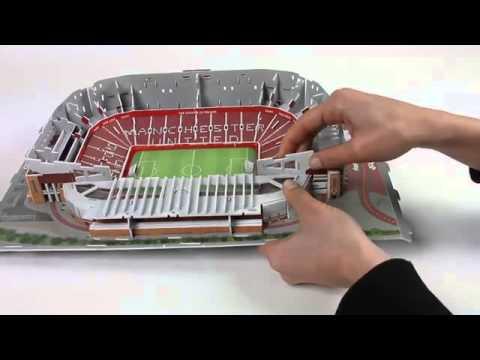 Nanostad 3D-Puzzle Old Trafford Tutorial [deutsch]