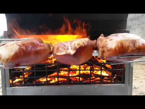 Jambon rôti à la broche