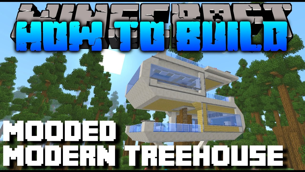 Minecraft how to build modern treehouse youtube for How to build a modern home
