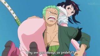 One Piece funny moment - Zoro carries Tashigi thumbnail