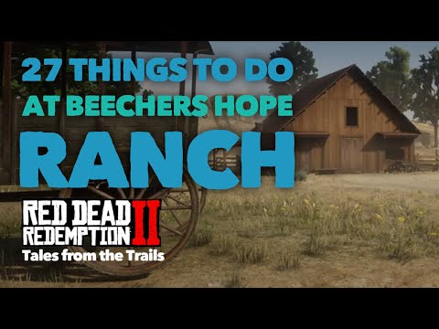 Red Dead Redemption 2: What to do at Beechers Hope Ranch | Cook | Craft | Milk | Eggs | Eat | Hay