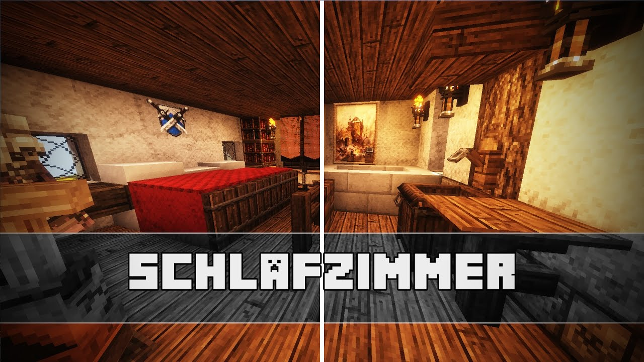 schlafzimmer mittelalterliche einrichtung minecraft. Black Bedroom Furniture Sets. Home Design Ideas