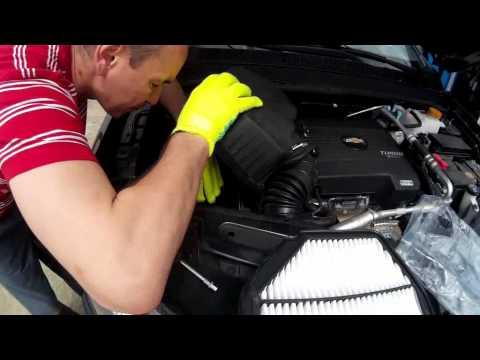 Как заменить воздушный фильтр шевроле каптива