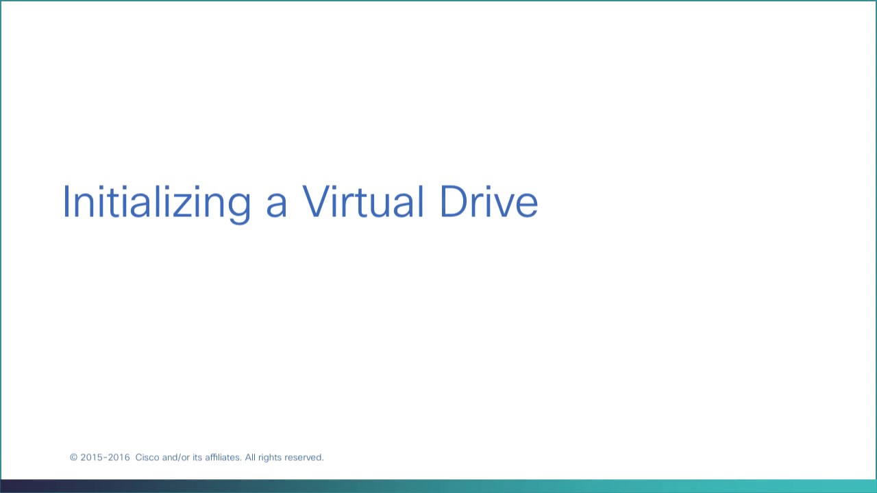 Initializing a Virtual Drive