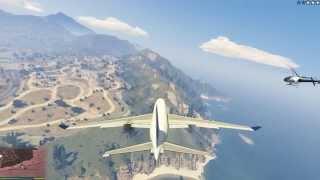GTA5 пассажирский самолёт Airplane