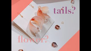 【Tails of a goldfish Earrings】DIY craft shrink ACCESSARY!!!!!! Is it like a flower isn't it?