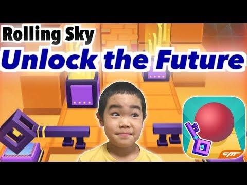 Rolling Sky【Unlock The Future】100%(8gems) ローリングスカイ【未来を解き放て!】
