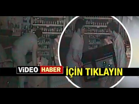 HIRSIZLIK ANI SANİYE SANİYE KAMERALARA YANSIDI...