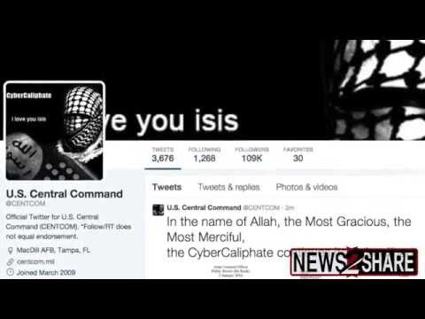 US Centcom Twitter Hacked by pro-ISIS Group