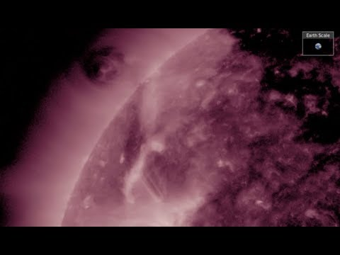 Incredible Plasma Dance/Coronal Cavity | S0 News Aug.17.2017