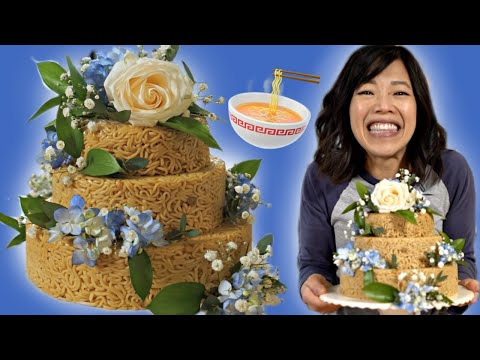 How To Make An INSTANT NOODLE Cake 🇮🇩 Indomie Cake