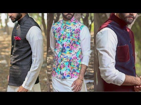 Decent Look Mens Kurta Shalwar Waistcoat Designs 2018 | Men's Fashion