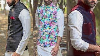 Decent Look Mens Kurta Shalwar Waistcoat Designs 2018 | Men