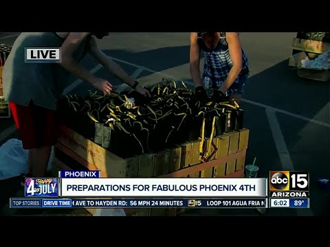 Crews preparing for big 4th of July show in Phoenix