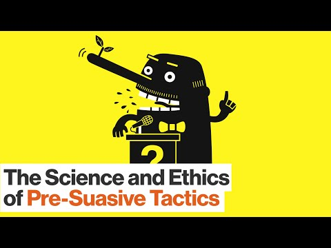How to Use Pre-suasive Tactics on Others – and Yourself | Robert Cialdini