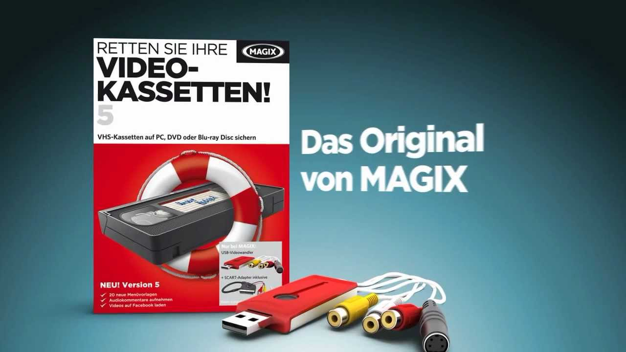 videos einfach von vhs auf dvd bertragen magix retten sie ihre videokassetten 5 de youtube. Black Bedroom Furniture Sets. Home Design Ideas