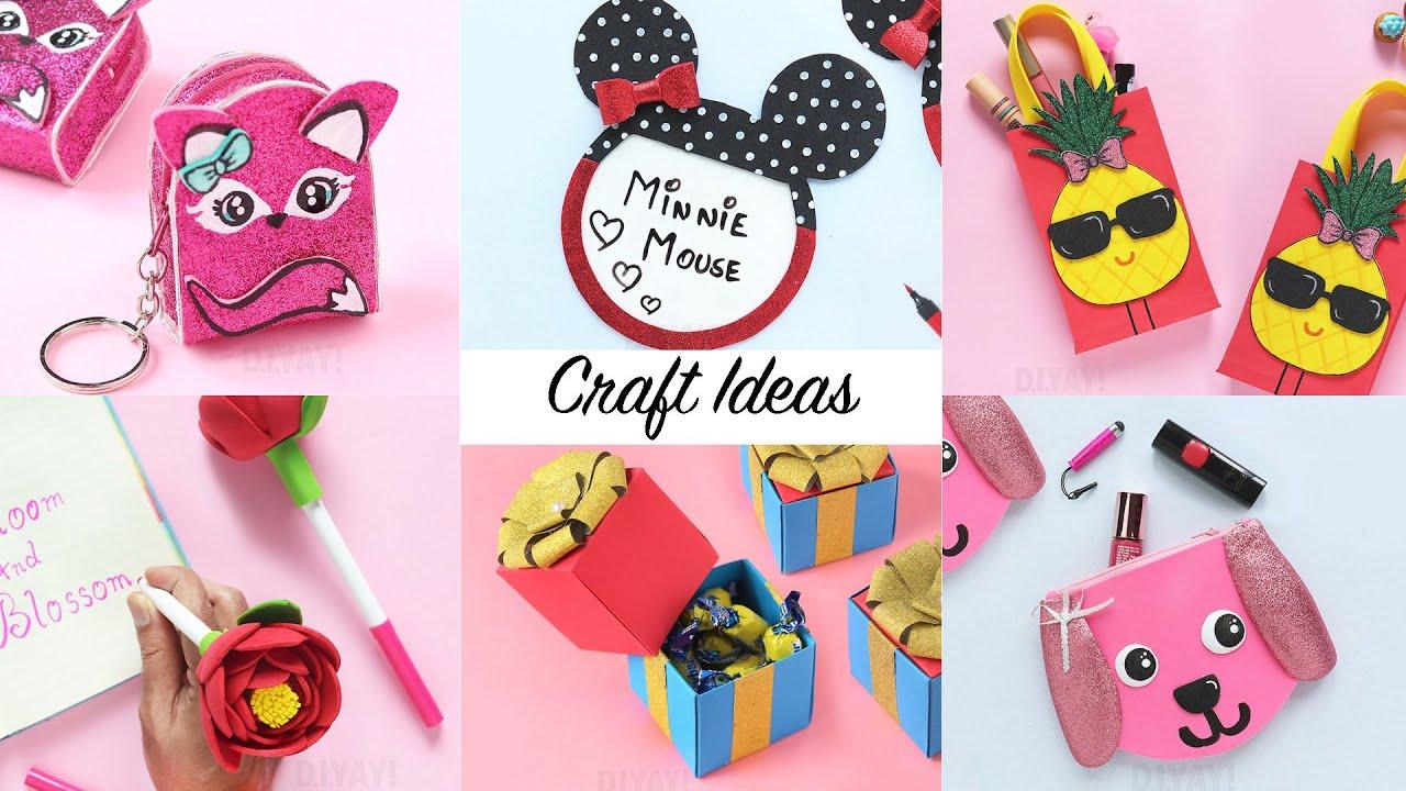 20 EASY CRAFT IDEAS   Craft Ideas   DIY Crafts