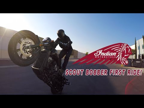 INDIAN SCOUT BOBBER - MY FIRST RIDE