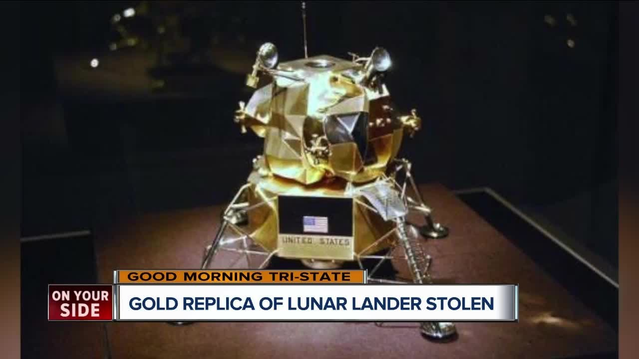 Gold lunar module replica stolen from Armstrong Air and Space Museum still missing