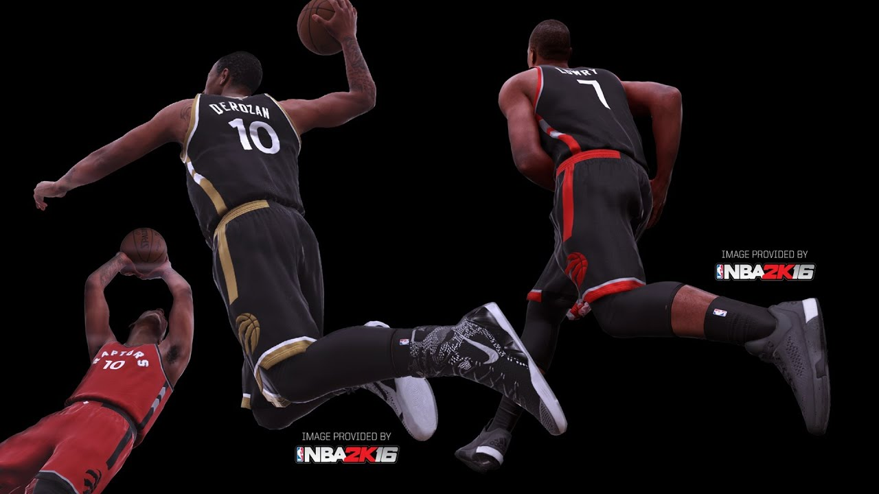 NBA 2K16 1st Screenshots OVO Raptors Drake Jerseys