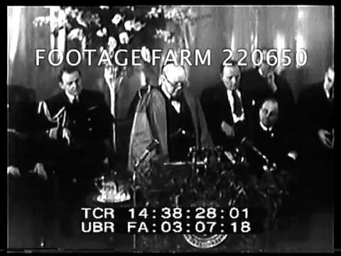 Churchill Iron Curtain Speech 220650-06 | Footage Farm