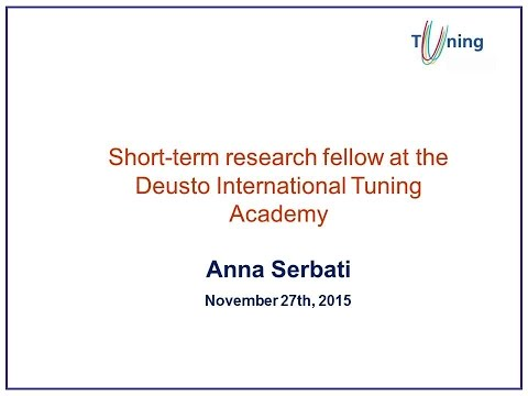 Anna Serbati. From Tuning best practices to teaching and learning communities worldwide