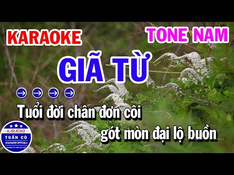 Giã Từ Karaoke Tone Nam Am Nhạc Sống | Tuấn Cò Karaoke