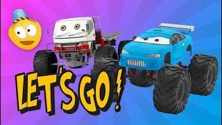 Cartoon Compilation for kids | Monster Truck Cartoon | Fire Truck, Police Car, School Bus