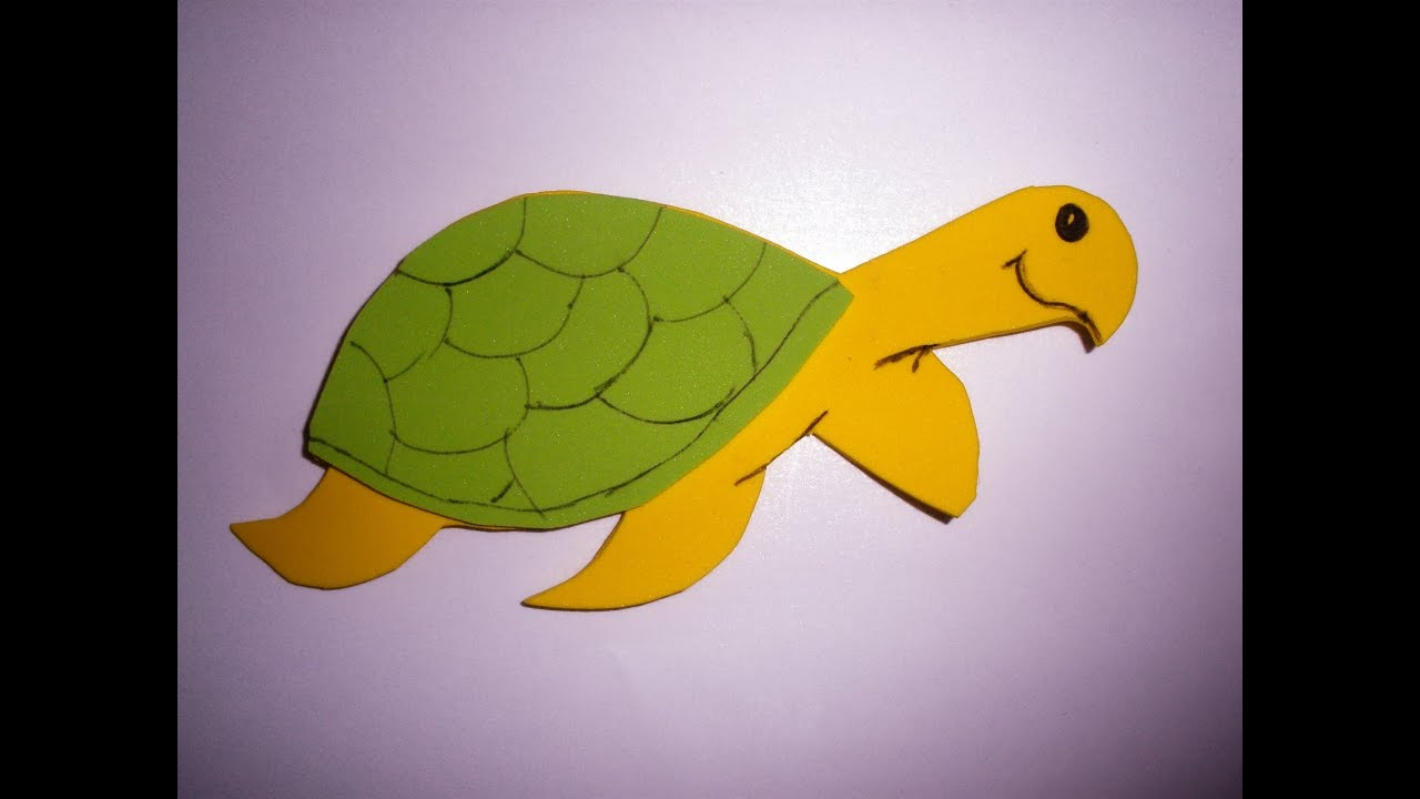 Manualidades, tortuga con goma eva, DIY, foam tortoise, turtle ...