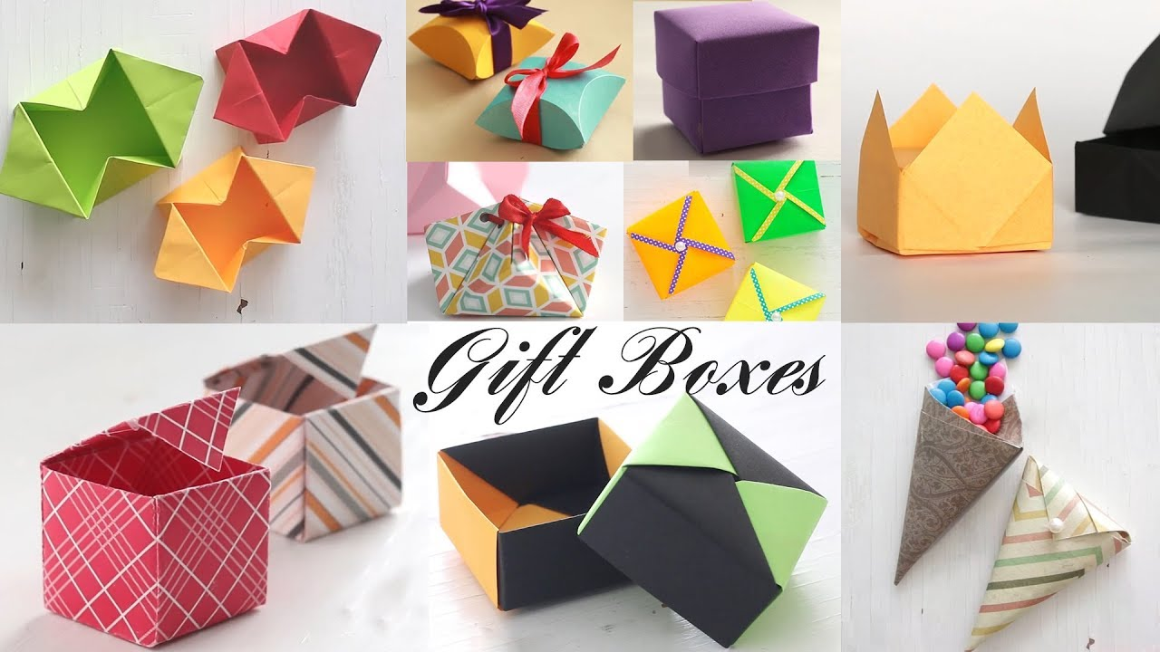 top 10 gift box paper boxes diy activities youtube