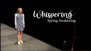 Whispering (clip) - Claire Rice as Wendla