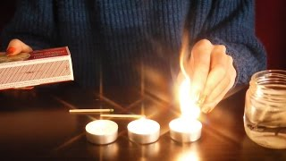 ASMR Sunday Shortie: matches, candles, hisses and scratches