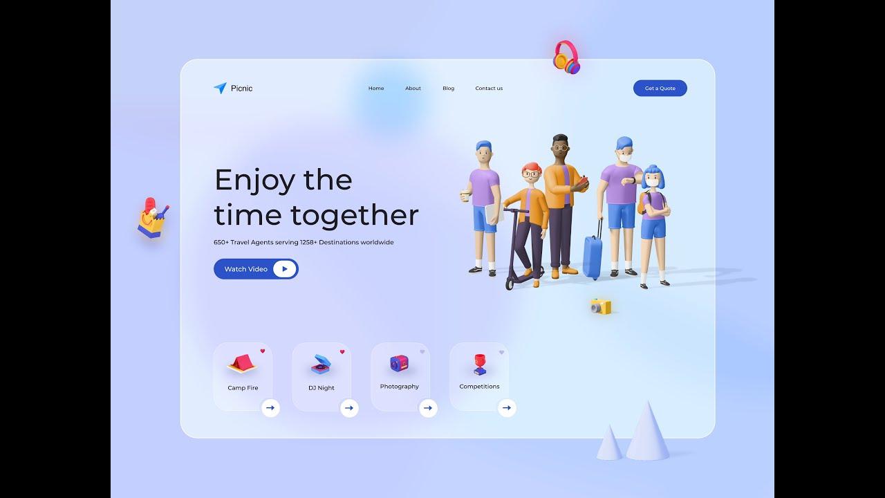 Flutter Web - Picnic Landing Page UI Design