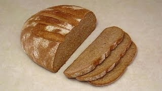 How to Make Whole Wheat Bread at Home.  Hand Made.  Easy with Basic Kitchen Utensils.