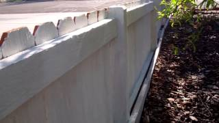 Daddy Chores: How To Paint And Restore An Old Wood Picket Fence.  Part 1