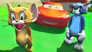 Tom ve Jerry Şimşek Mcqueen ile Örümcek Adam'ı Çok Kızdırdı (Çocuk Çizgi Filmi)