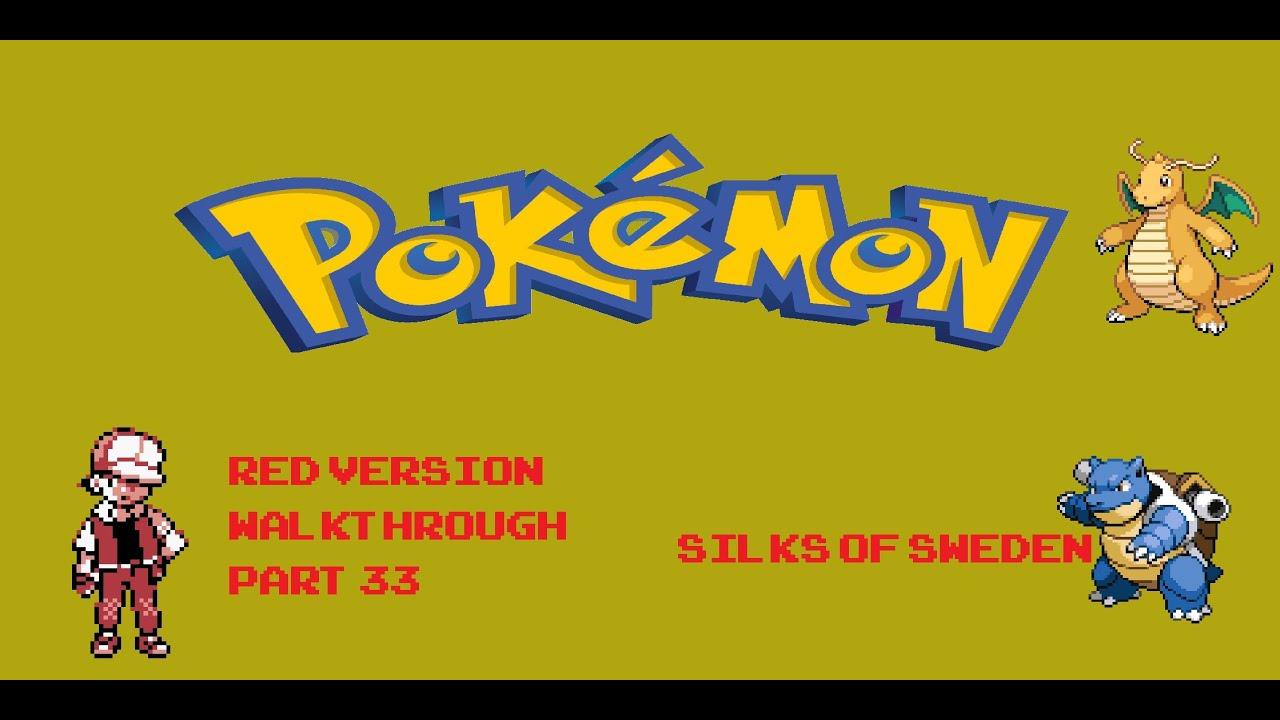 pokemon red version walkthrough part 33 the end youtube. Black Bedroom Furniture Sets. Home Design Ideas