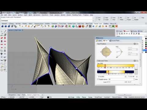 122 - Rhino - Phillips Pavilion Analysis Drawing Render Setup 01